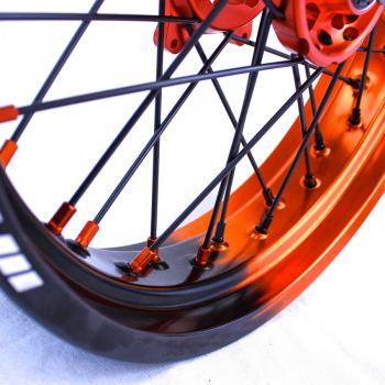 SMpro platinum half oranje half zwart supermoto velg ktm