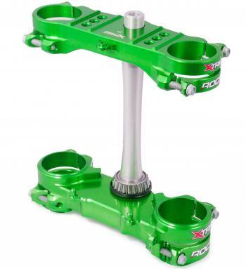 Xtrig Rocs kroonplaten voor Kawasaki KX KXF groen