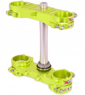 Xtrig Rocs kroonplaten voor Suzuki RM RMZ neon geel