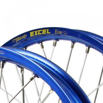 Blauwe Excel motorcross velg mx 21x1.60 19x2.15 18x2.15