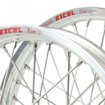 Zilverkleurige Excel motorcross velg mx 21x1.60 19x2.15 18x2.15