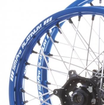 SM Pro platinum crosswielen blauwe velg met zwarte naaf