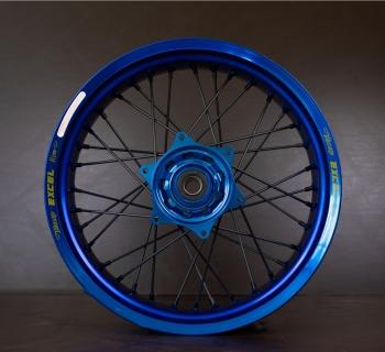 Blauwe Excel Supermoto wielen NGR wheels