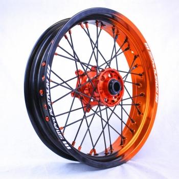 Supermoto velgen SMPro half zwart half oranje