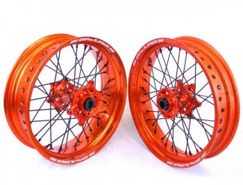 SMPro platinum supermoto velgen oranje