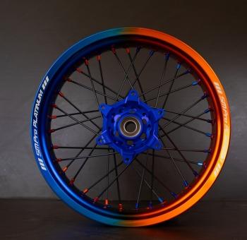 SMpro velg dual color blauw/oranje